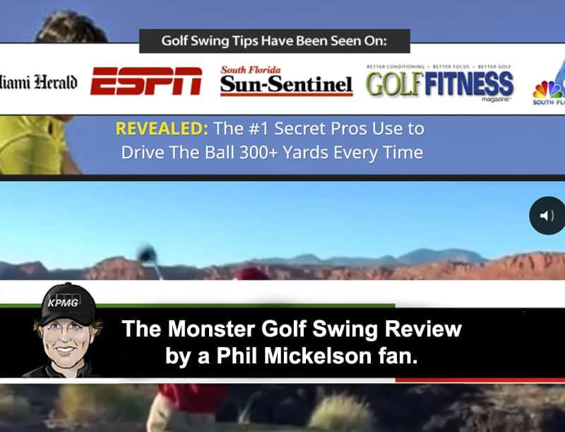 Monster golf swing program details