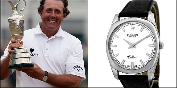 Phil Mickelson Rolex Cellini